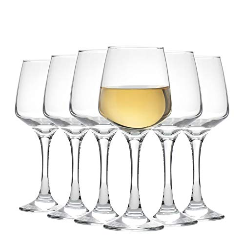 Argon Tableware Tallo - Copas de Vino Blanco - En Caja Regalo - 295 ml - Pack de 6