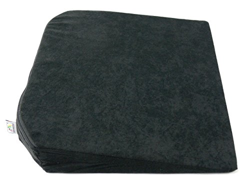 Kegel Heightening Luxury Mat Support Cushion Wedge Booster Foam Ideal for Car Office, Black