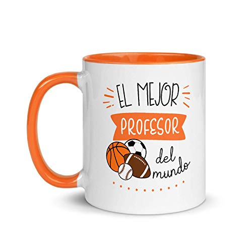 Kembilove Taza de Desayuno del Mejor Profesor de Deportes del Mundo – Tazas de Café para Profesionales y Trabajadores para la Oficina – Tazas de Té en Color de Profesiones – Taza de 350 ml