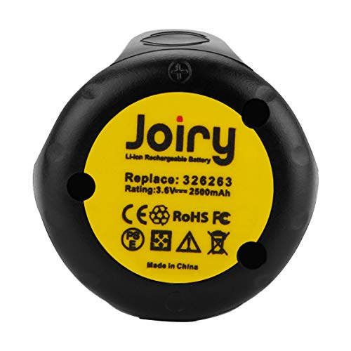 Joiry 3.6V Battery for Hitachi 2.5A Lithium Replacement EBM315 326263 326299 DB3DL DB3DL2 FDB3DL NT50GS NT65GA NT65GB NT65GS