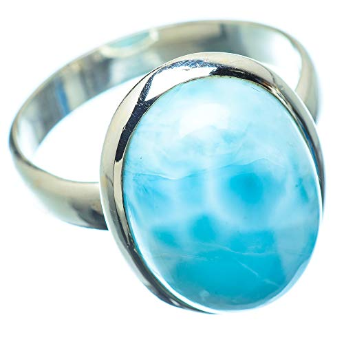Ana Silver Co Larimar 925 Sterling Silver Ring Size Q