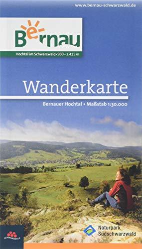 Wanderkarte Bernau, laminiert: Wandern im Naturpark Südschwarzwald. Das Bernauer Hochtal. 1:30000