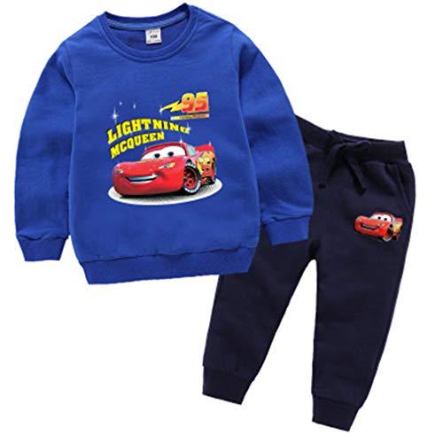 SPFAZJ Children's Clothing Winter Jacket for Boys High Waist t-Shirt for Boys Hooded Pants Set (G:Navy Blue,140CM