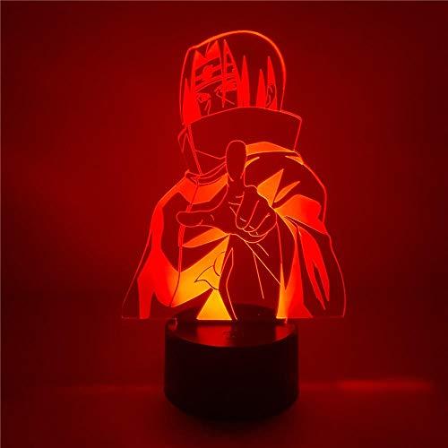 3D Nachtlicht Anime IllusionNaruto Uchiha Itachi Anime Figur 3D Nacht Lichter Uzumaki Sasuke Obito Modell Action Figurals Shippuden Brinquedos Juguetes Figma