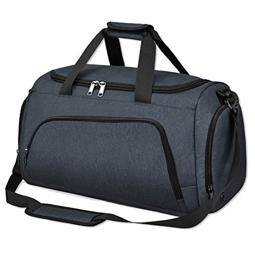 NUBILY Bolsa de Deporte Bolsa Gimnasio de Viaje con Compartimento para Zapatos Impermeable Bolsos DeportivosMujer de Grande 40L para Hombre y Mujer Azul Oscuro