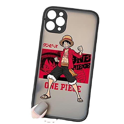 Funda suave para teléfono anime One Piece Luffy Zoro Comic Negro TPU Silicona para iPhone 11 Pro Max 6 6S 7 8 Plus X XS Max XR (11, iPhone 7 6s Plus)-A_iPhone_6Plus