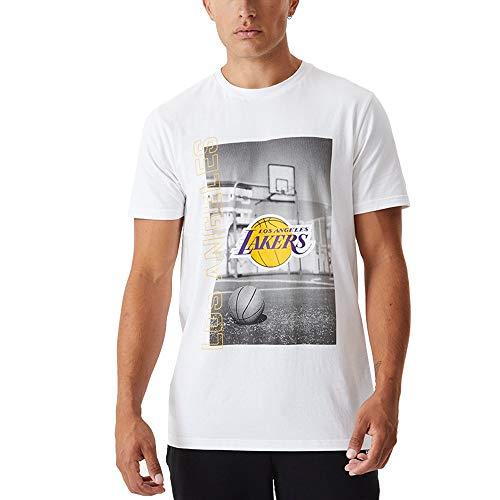 New Era Camiseta de Manga Corta Modelo NBA Photographic tee LOSLAK Marca