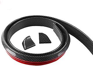 SKEIDO 1.5M Car Bumper Strip Carbon Fiber Rubber Rear Spoiler Wing 40mm Width Universal Exterior Rear Spoiler Kit