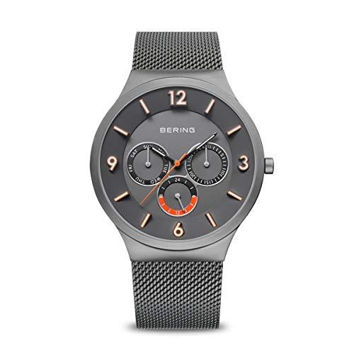 BERING Reloj Analógico para Hombre de Cuarzo con Correa en Acero Inoxidable 33441-377