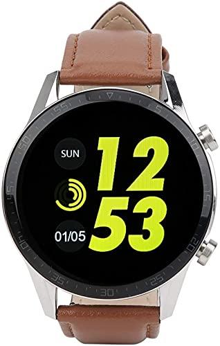 Smartwatch Monitor de Sueño Completo Touching Reloj para Caminar Correr Uso Informe del Tiempo Reloj-marrón, Pisa Inclinado Torre Tipo