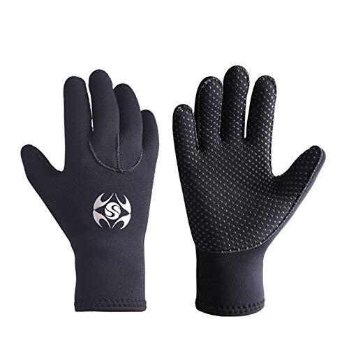 NA Guantes de buceo de 3 mm, neopreno, a prueba de frío, para invierno, natación, equipo de esnórquel bajo el agua antideslizante guantes