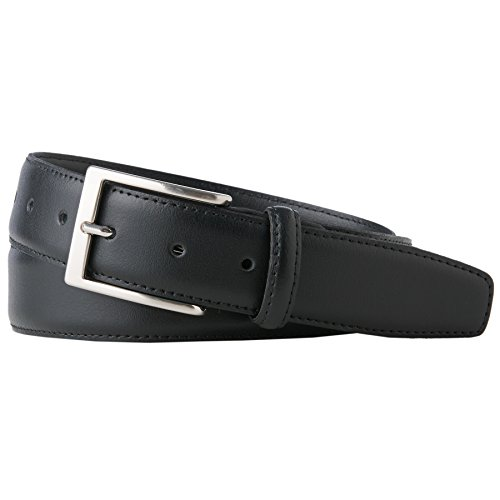 TOM TAILOR für Männer Gürtel & Riemen schmaler Leder-Gürtel black, 105
