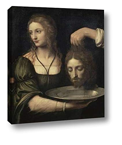 """Salome Receiving The Head of John The Baptist by Bernardino Luini - 10"""" x 12"""" Canvas Art Print Gallery Wrapped - Ready to Hang"""