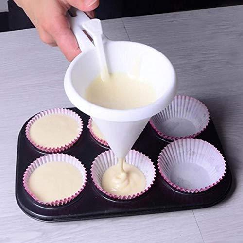 OUYAWEI Thuis Keuken Handheld DIY Chocolade Snoep Icing Funnel Mold Handige Foodgrade Plastic Pannenkoek Crème Vleermuis Dispenser