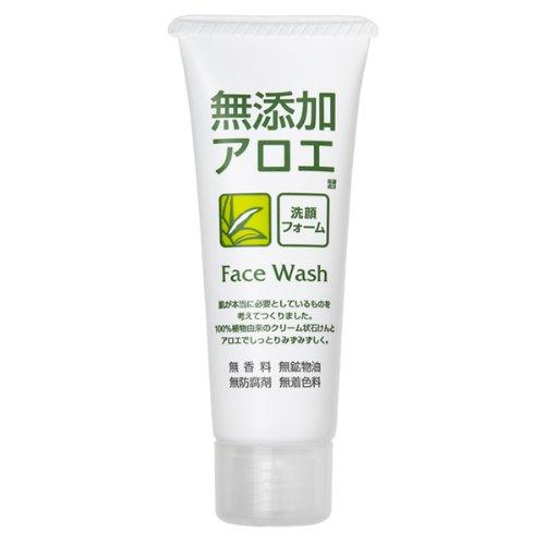 ROSETTE | Facial Washing Foam | Additive Free Aloe 140g (japan import)