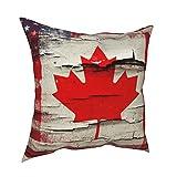 Fundas de almohada decorativas con diseño de bandera canadiense americana, fundas de almohada personalizadas, fundas de cojín para sofá, dormitorio, coche, accesorios para el hogar de 50 x 50 cm