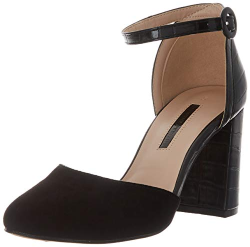 Dorothy Perkins Deena Court Shoes, Sandalias con Punta Cerrada Mujer, Negro Black 010, 39 EU