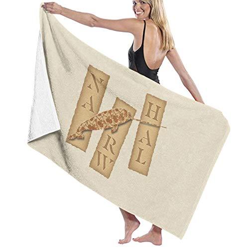 U/K Origami Narwhal - Toalla de baño (secado rápido)