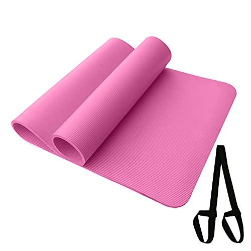 GWGW Pad Yoga Pad Monochrome Anti-Slip Monocromo Fitness Deportes Saltar la Cuerda Práctica Yoga Pad(183 * 61 * 1cm,Rosa)