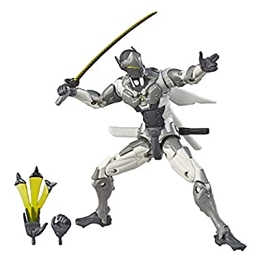 Hasbro Overwatch Ultimates Series Genji (Chrome) Skin 6″-Scale Collectible Action Figure with Accessories – Blizzard Video Game Character (Amazon Exclusive)