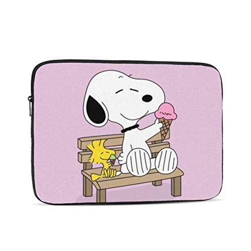 Laptop Sleeve Case- Multi Size Snoopy with Ice Cream Notebook Computer Protective Bag Tablet Briefcase Carrying Bag,13 Inch