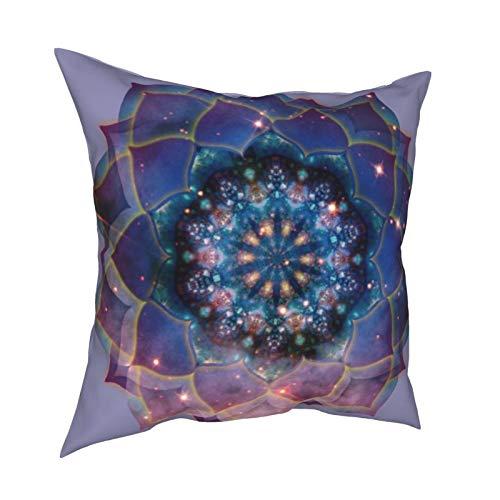 Uliykon Fundas de cojín de estilo bohemio con diseño de mandala floral, moderno, clásico, suave, cuadrada, para sofá, dormitorio, coche, con cremallera invisible, 45,7 x 45,7 cm