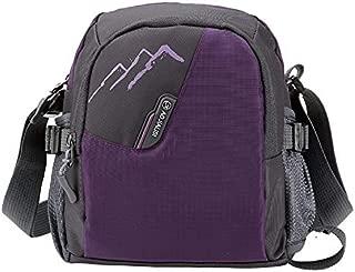 HAWEEL Anti-Theft Classic Retro Messenger Travel Nylon Single Shoulder Bag Outdoor Handbag (Black) Sling Crossbody Mini Purse One Size