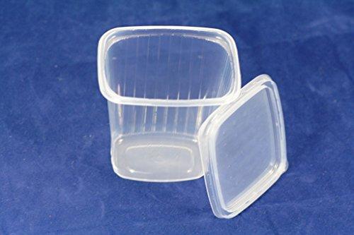 Recipientes para ensalada (((Pack de 150) 500ml Comida rápida desechables tapas de...