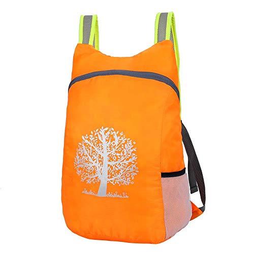 Foru-1 Outdoor Pieghevole Zaino Escursionismo Campeggio Ultraleggero Storage Bag, Arancione.