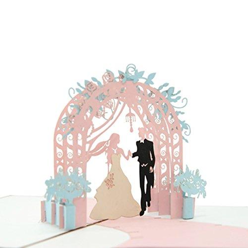 Favour Pop Up Glückwunschkarte zur Hochzeit im Format 12x17cm. TW044