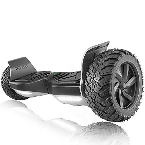"XPRIT 8.5"" All Terrain Off-Road Hoverboard w/Bluetooth Speaker, LED Lights, UL2272 Certified"