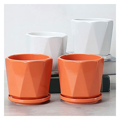 Maceta de Decorativo Jardín moderno macetas de cerámica de cerámica blanca verde naranja amarillo...