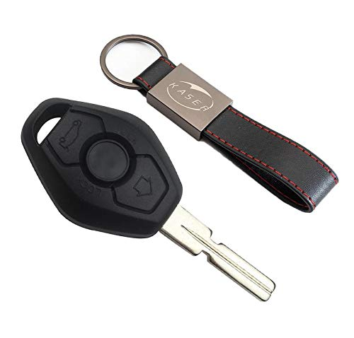 kaser Guscio Chiave per BMW - Cover Scocca 2 Tasti per BMW Serie 1 2 3 Z3 Z4 X3 X5 M5 325i E38 E39 E46 (HU58 Blade)