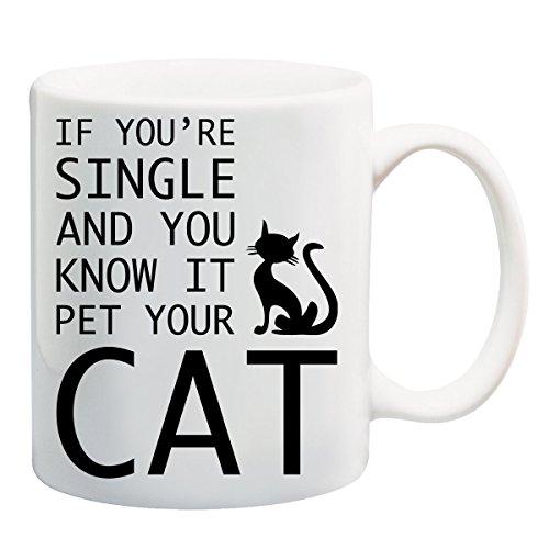 Als je alleen bent en je weet dat het je kat T-Shirt mok huisvest