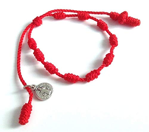 Pray Decade Handmade Mini Rosary St Benedict Red...