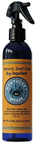 Nantucket Spider Best Natural Bug Repellent Essential Oil Mosquito Spray Insect Repellent (8 Ounce Spray) Humans, Adults, Kids, Horses, Skin, Clothes Organic Oils Best Natural Bug Spray Fly No See U