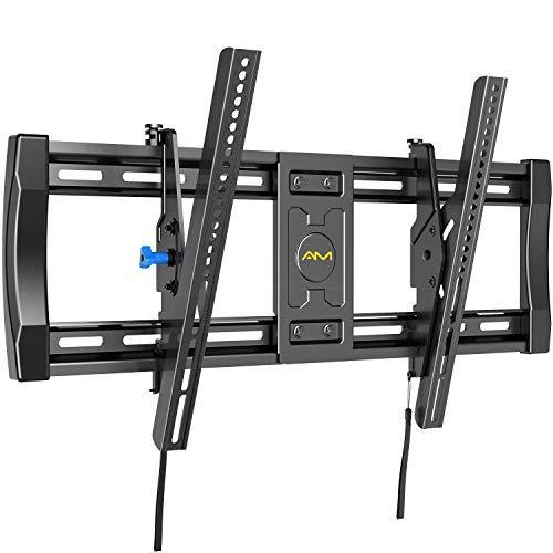 TV Wandhalterung, Neigbare TV Halterung für 40-82 Zoll Flach & Curved Fernseher oder Monitor bis 60 kg, max. VESA 600x400mm