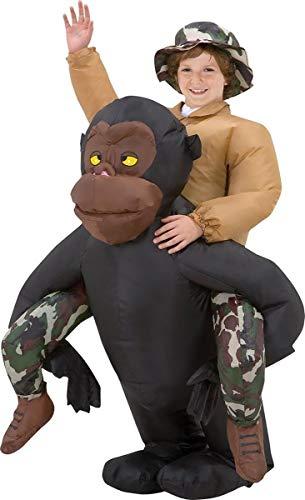 Gemmy - Riding Gorilla Kids Inflatable - 12-14