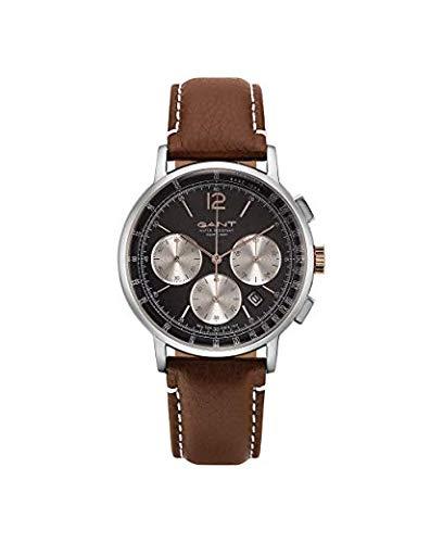 Gant Herren Analog Quarz Uhr mit Leder Armband 7.63004E+12