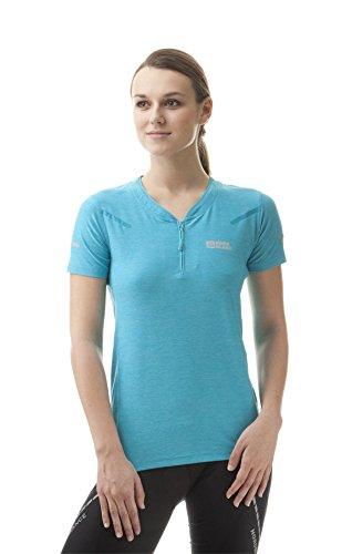 Nordblanc Damen HIT Fahrrad- Und Running T-Shirt, Pool Blau, 36