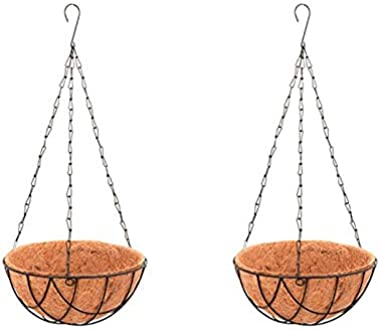 CINAGRO® - Coir Hanging Basket 8 Inch Pack of 2 | Eco-Friendly | Rust Free | Premium Coir Fiber