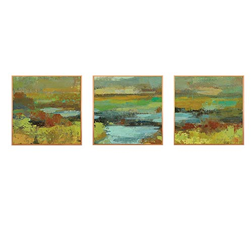 MBQ 3 Pieces Abstract Canvas Modern Painting Graffiti Wall Paintings Landscape Wall Decoration Print, A