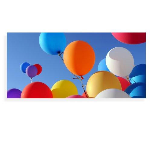 Banjado Wechselscheibe für IKEA GYLLEN Wandlampe   Glasscheibe für Wandleuchte 56x26cm   Echtglas Motiv Luftballons   Querformat
