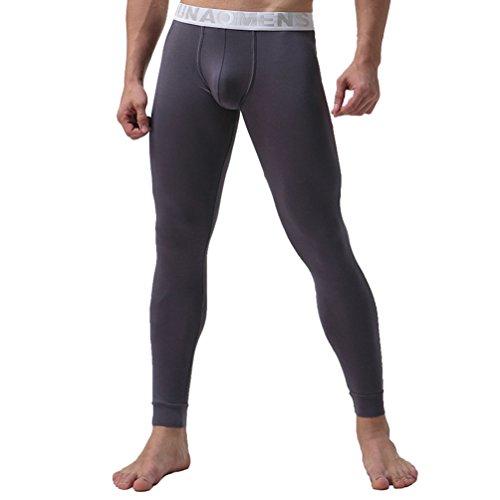 YiLianDa Capa para Hombre De Base Pantalones Térmicos Johns Ropa Interior De Caliente Pantalones...