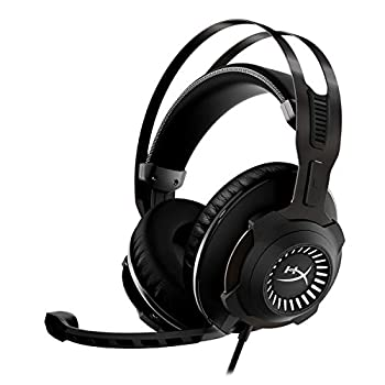HyperX Cloud Revolver - Gaming Headset with HyperX 7.1 Surround Sound Signature Memory Foam Premium Leatherette Steel Frame Detachable Noise-Cancellation Microphone