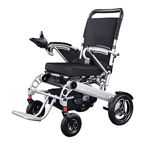 WXDP Silla de ruedas autopropulsada, ligera plegable eléctrica, Off-Road Class Walker, con 4 amortiguadores, motores duales, batería de litio de 20 Ah de nueva energía,