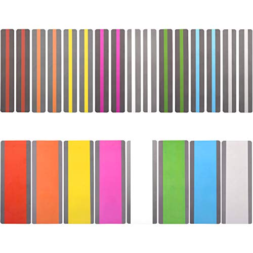 24 Pack Reading Guide Strips Highlighter Colored Overlays Bookmark Read Strips Assorted Colors Strips for Children,Teacher, Dyslexia People(8 Colors)
