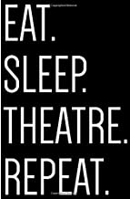 Eat. Sleep. Theatre. Repeat.: College Ruled Notebook