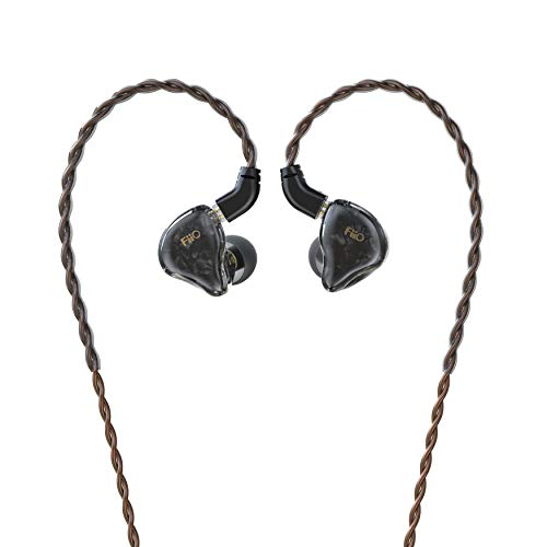 FiiO FD1 Hi-Res Earbuds Wired,in The Earphone,Beryllium-PlatedDynamic Driver,4-Stranded High-Purity Monocrystalline Copper Cable, 0.78pin,Strong Bass (Without Mic,Black)