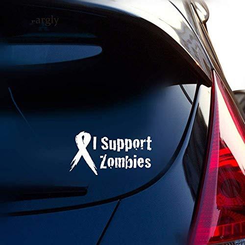 12X7.4Cm Art und Weise, die ich Zombie-Stützband-Auto-Aufkleber-Abziehbild-Zusätze für Autolaptop-Fensteraufkleber stütze